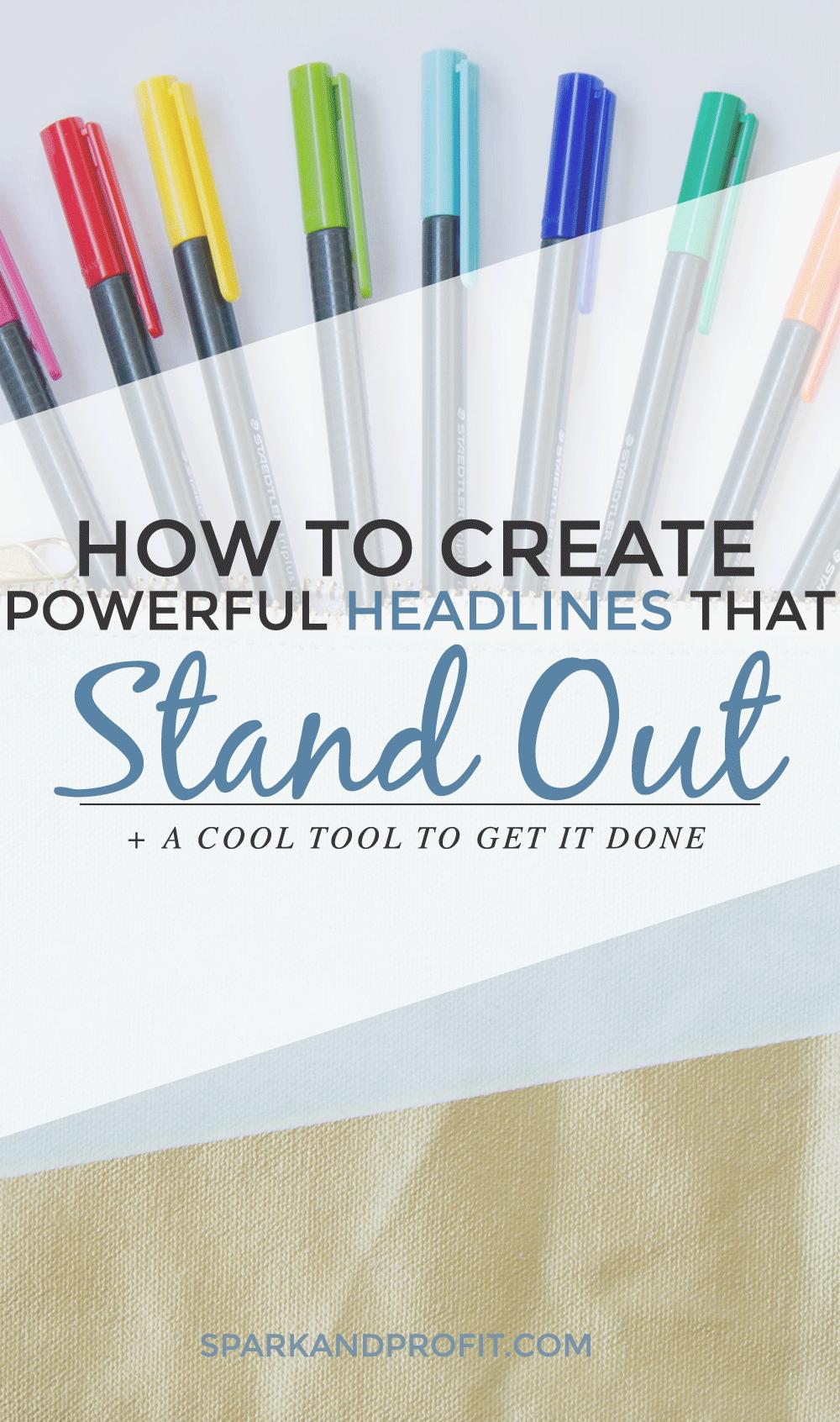 create powerful headlines