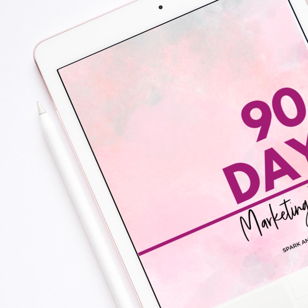 90 Day Marketing Planner Ipad