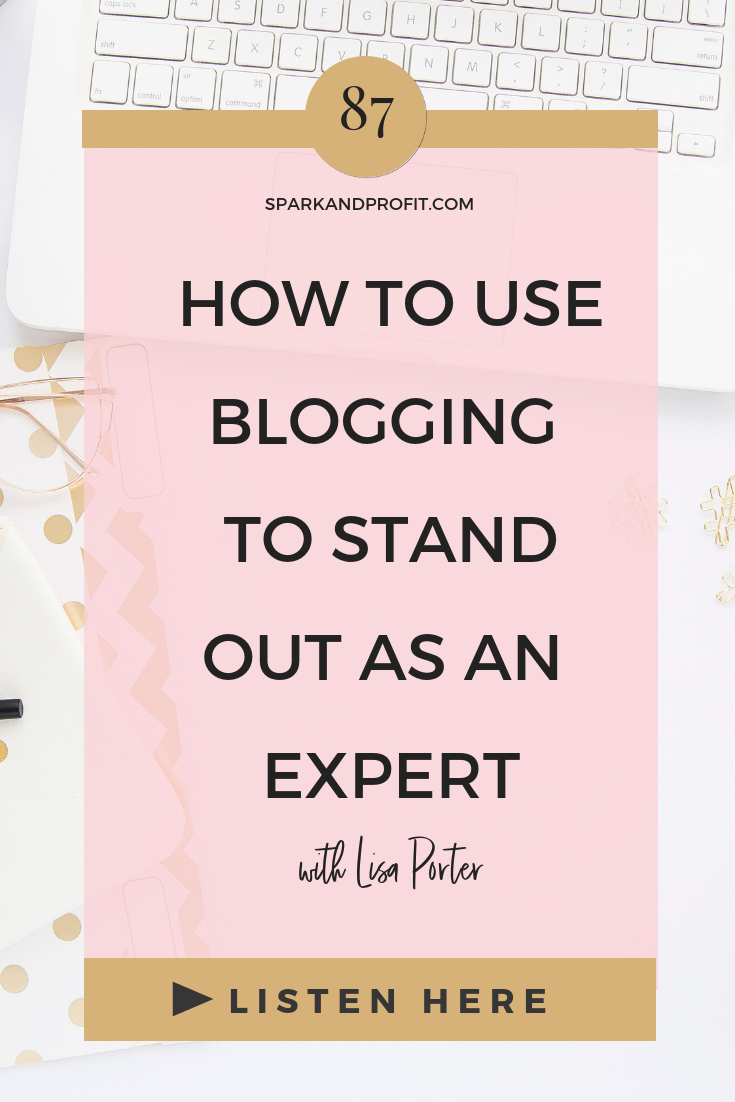 blogging to stand out as an expert