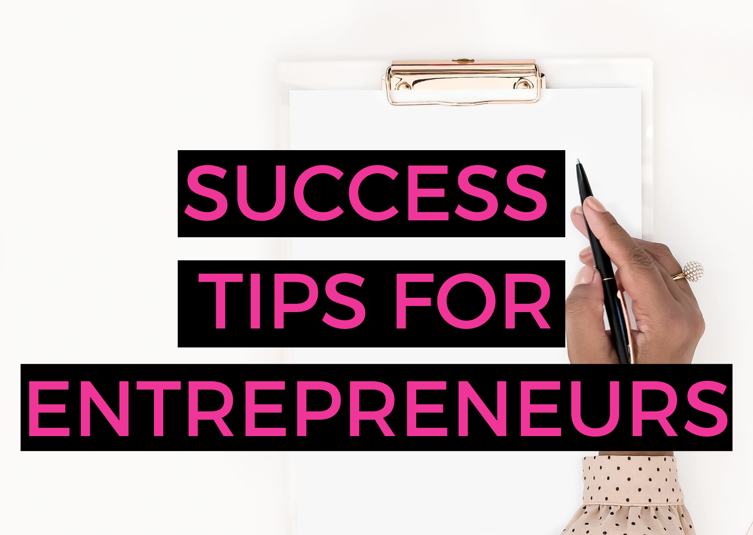 Entrepreneurial truths and success tips with Audria Richmond